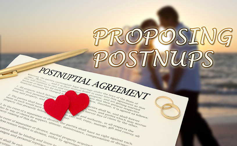 Post-Nuptial Agreements Vs Reconciliation Agreements